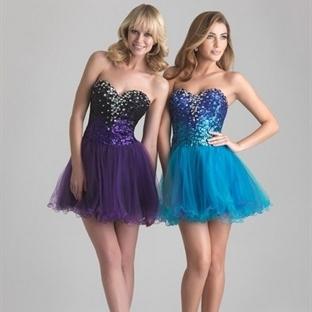 Mavi Yazlık Mini Abiye Modelleri