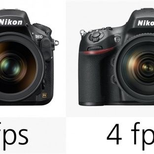 Nikon D810 ve Nikon D800/E Karşılaştırması