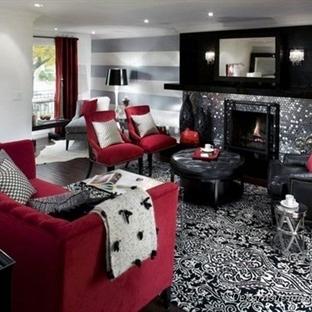 Siyah Beyaz Ve Kırmızı Ev Dekorasyon Fikirleri