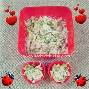 tavuklu hafif salata