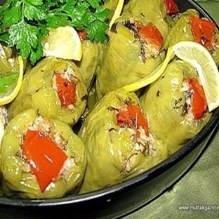 türk kahveli-zeytinyaglı biber dolma