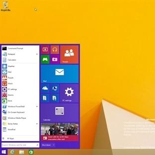 Windows 9′dan İlk Kareler Başlat Menüsü Dönüyor!