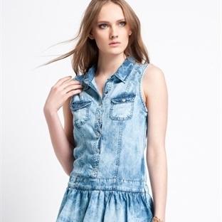 Yeni trend kot elbiseler