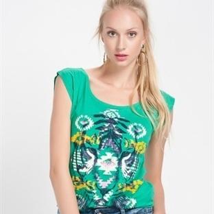 Yeşil Yazlık Tişört Modelleri