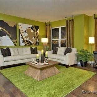 Zeytin Yeşili Ev Dekorasyonu