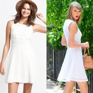 Beyaz Yazlık Düğün Elbise Modelleri