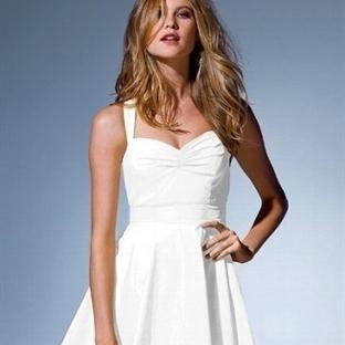 Beyaz Yazlık Nişan Elbise Modelleri