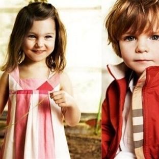 Burberry markasına ait kız çocukları için en güzel
