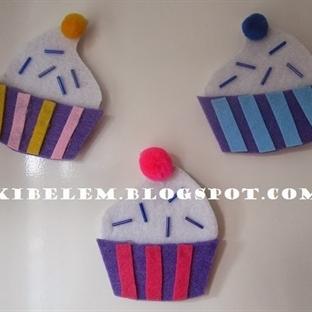 cupcake magnet yapmak