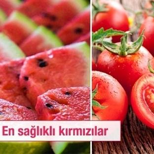 En Faydalı Kırmızı Sebze ve Meyveler