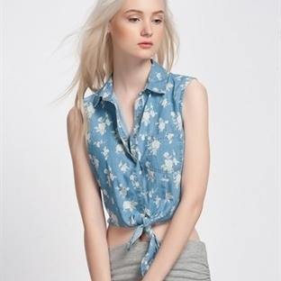 Göbeği Açık Gömlek Modelleri 2014
