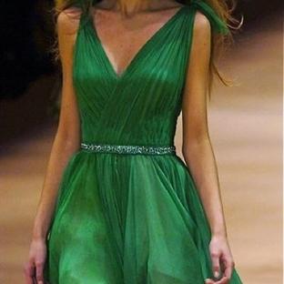 Her Ortama Uygun Yeşil Elbise Modelleri
