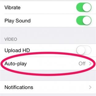 iPhone'da Facebook Otomatik Video nasıl kapatılır?