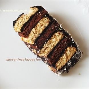 İki Renkli Bisküvi Pastası Tarifi
