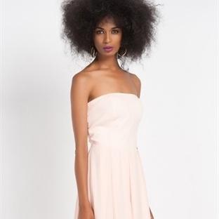 Krem Rengi Yazlık Abiye Elbise Modelleri