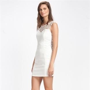 Krem Rengi Yazlık Düğün Elbise Modelleri
