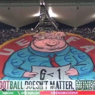 Legia Varşova'dan UEFA'ya domuzlu koregrafi!