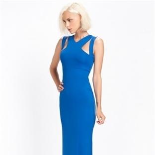 Mavi Yazlık Düğün Elbise Modelleri