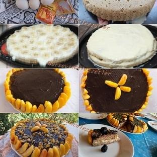 Meyvalı Bayat Ekmek Pastası