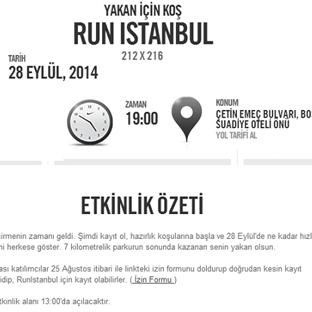 Nike Run İstanbul 2014 Koşusu