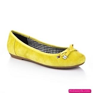 Sarı Yazlık Bayan Ayakkabı Modelleri