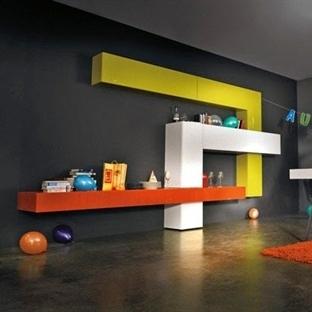 İtalyan Tasarım Duvar Ünite Ve Raf Modelleri