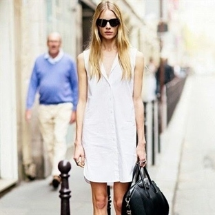 Trend: Beyaz Gömlek Elbise
