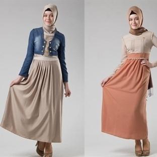 Yeni Tesettür Elbise Modelleri