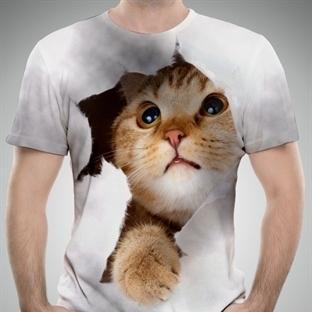 3D hayvan baskılı tişörtler