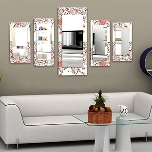 5 Parçalı Canvas Tablo Tarzı Aynalar