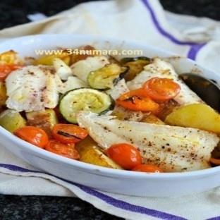 Deniz ürünlerinden Balık graten