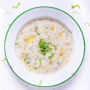 Fesleğenli soğuk buğday çorbası