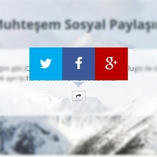 JQuery ile Muhteşem Sosyal Paylaşım Butonları