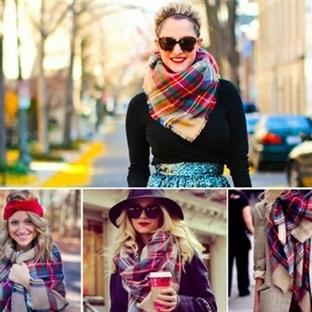 Kış Mevsimi İçin En Yeni Şal Modelleri ve Kombinle