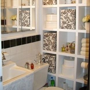 Küçük Banyolarda İçin Raflama Fikirleri