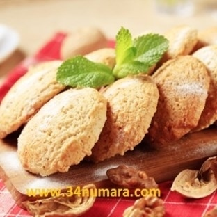 Kurabiyelerin en tatlısı pekmezli cevizli kurabiye