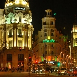 Madrid Gran Via Caddesi