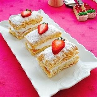 Milföy Hamurundan İkramlık Mini Pasta Tarifi