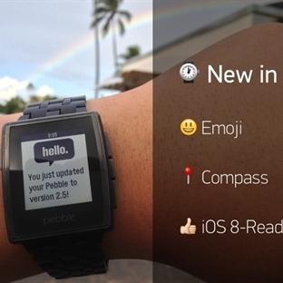 Pebble Güncellendi, Emoji, ve iOS 8 Desteği Geldi!