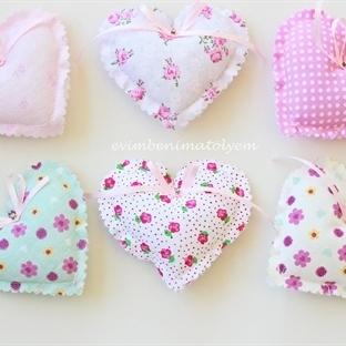 Romantik Kumaş Kalpler- Nikah Şekeri