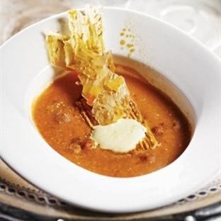 Safranlı Yaprak Tarhana Çorbası