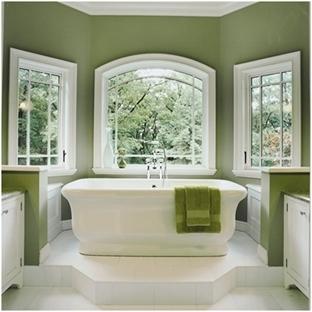 Yeşil Banyo Dekorasyonu Örnekleri ve Mobilyaları