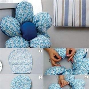 Çiçek Modeli Yastık Yapımı
