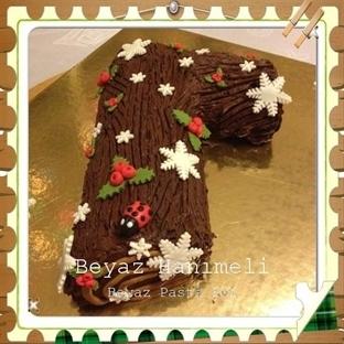 Çikolatalı yılbaşı kütük pastası