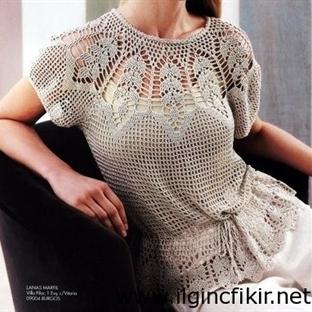 Değişik Örgü Hırka Elbise Modelleri
