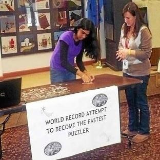 Dünyanın en hızlı puzzle birleştirme rekoru!