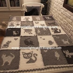 Grili ve Beyaz Kedili Battaniye