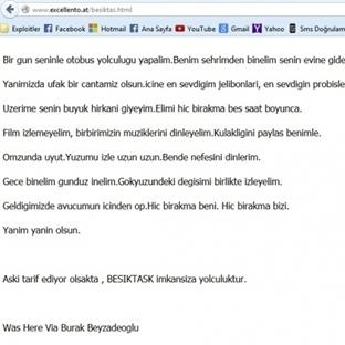 Hackerlar Beşiktaşa Not Bıraktı