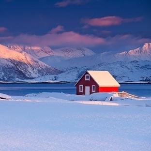 Kar  İçinde Kaybolmuş Bu Evlere Bayılacaksınız