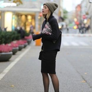 Kış boyunca Etek giymenin tarz 17 Yolu